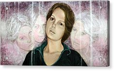 Choices Portrait Of Eva Lynn Horton Acrylic Print by Ron Richard Baviello