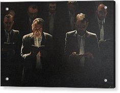 Choir Self Portrait Acrylic Print by Clive Holden