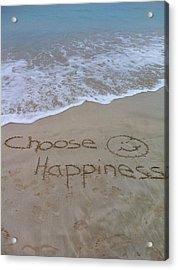 Choose Happiness Acrylic Print
