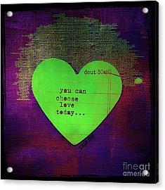 Choose Love Acrylic Print
