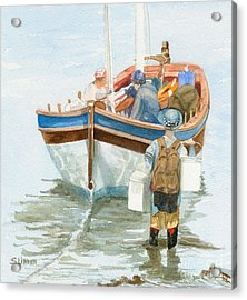 Acrylic Print featuring the painting Chop Wood Carry Water by Sandy Linden