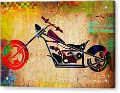 Choper Art Acrylic Print by Marvin Blaine