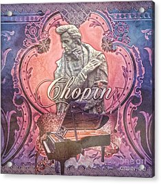 Chopin Acrylic Print by Mo T