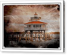 Choptank River Lighthouse Acrylic Print by Suzanne Stout