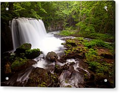 Acrylic Print featuring the photograph Choushi - Ootaki Waterfall In Summer by Brad Brizek