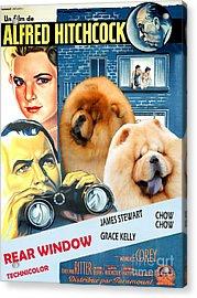 Chow Chow Art Canvas Print - Rear Window Movie Poster Acrylic Print
