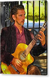 Chris Craig - New Orleans Musician 2 Acrylic Print by Steve Harrington