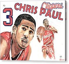 Chris Paul Acrylic Print by Israel Torres