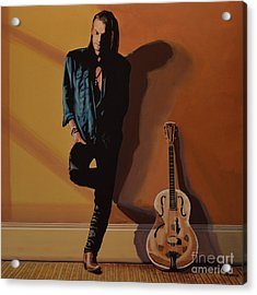 Chris Whitley Acrylic Print by Paul Meijering