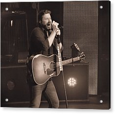 Chris Young On Stage Acrylic Print by Dan Sproul