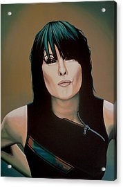 Chrissie Hynde Painting Acrylic Print by Paul Meijering