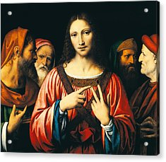 Christ Among The Doctors Acrylic Print by Bernardino Luini
