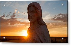 Christ And Sun Acrylic Print