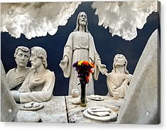 Christ And The Last Supper Northern Virginia 2006 Acrylic Print by John Hanou