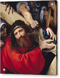 Christ Carrying The Cross, 1526 Oil On Canvas Acrylic Print by Lorenzo Lotto