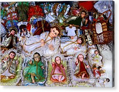 Christ Child Figures For Nativity Scenes Acrylic Print