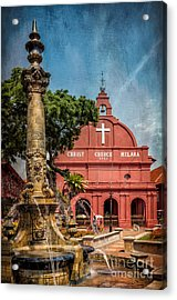 Christ Church Malacca Acrylic Print by Adrian Evans