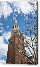 Christ Church Steeple Acrylic Print by Kay Pickens