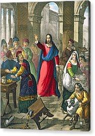 Christ Cleanses The Temple Acrylic Print by Siegfried Detler Bendixen