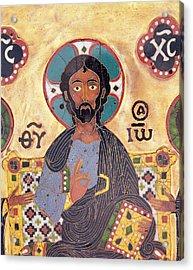 Christ Enthroned Cloisonne Enamel Acrylic Print