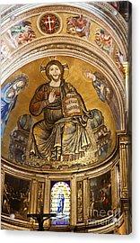 Christ In Majesty  Pisa Duomo Acrylic Print by Liz Leyden
