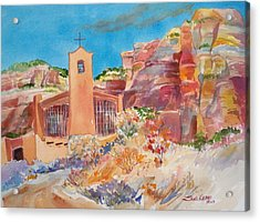 Christ In The Desert Monastery Acrylic Print by Sue Kemp