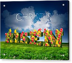 Acrylic Print featuring the drawing Christ Is Risen by Michele Engling