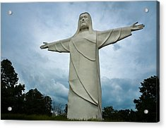 Christ Of The Ozarks Acrylic Print by Bill Pevlor
