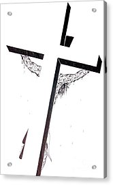 Acrylic Print featuring the drawing Christ On Cross by Justin Moore