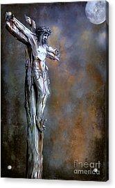Christ On The Cross  Acrylic Print by Andrzej Szczerski