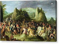 Christ On The Road To Calvary Acrylic Print by Frans II the Younger Francken