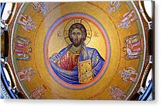 Christ Pantocrator -- No.4 Acrylic Print by Stephen Stookey