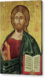 Christ Pantocrator Acrylic Print by Bulgarian School
