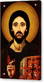 Christ Pantocrator Acrylic Print by Li   van Saathoff