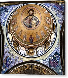 Christ Pantocrator -- No.5 Acrylic Print by Stephen Stookey