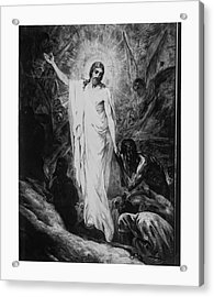 Christ Preaching To The Spirits In Prison C. 1910 Acrylic Print by Daniel Hagerman