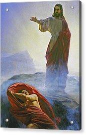 Christ Rebuking Satan Acrylic Print