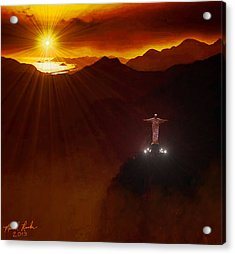 Christ The Redeemer Acrylic Print by Michael Rucker