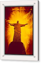 Christ The Redeemer Ver - 3 Acrylic Print