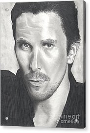 Christian Bale Acrylic Print by Christian Conner