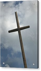 Acrylic Print featuring the photograph Christian Cross by Bob Pardue