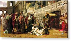 Christian Dirce In The Circus Of Nero Acrylic Print by Pg Reproductions