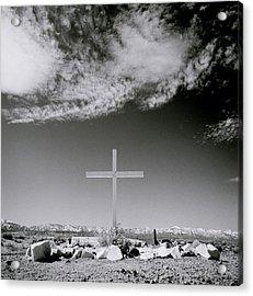 Christian Grave Acrylic Print by Shaun Higson