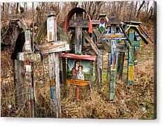Christian Graveyard Acrylic Print