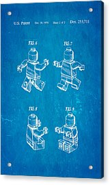 Christiansen Lego Figure 3 Patent Art 1979 Blueprint Acrylic Print