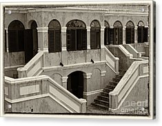 Christiansted National Historic Fort Sepia Acrylic Print by Iris Richardson