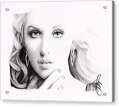 Christina Aguilera 2 Acrylic Print by Rosalinda Markle