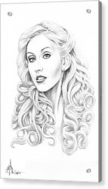 Christina Aguilera Acrylic Print by Murphy Elliott