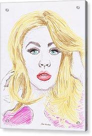 Christina Aguilera Sketch Acrylic Print