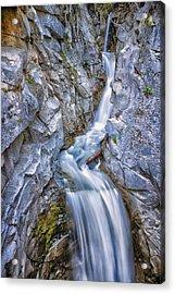 Christine Falls In Mount Rainier National Park Acrylic Print by Adam Romanowicz